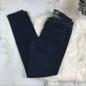 Madewell Low Skinny Jeans Dark Wash